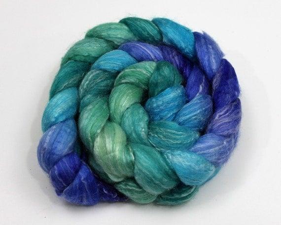 Merino Wool/ Bamboo Top (Roving) - Hand Painted Spinning Fiber