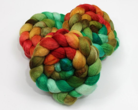 RESERVED - BFL Wool Roving - Custom Dyed Spinning Fiber