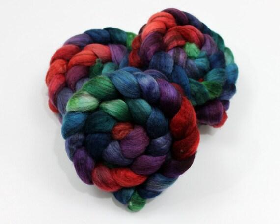 BFL Wool Roving - Handpainted Felting or Spinning Fiber