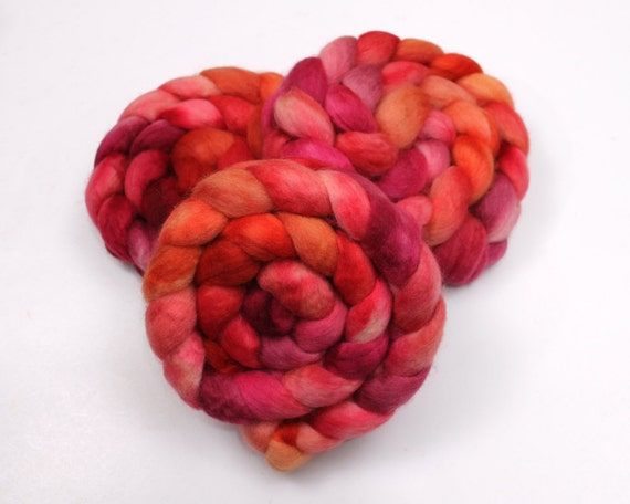 BFL Roving - Hand Painted Felting or Spinning Fiber