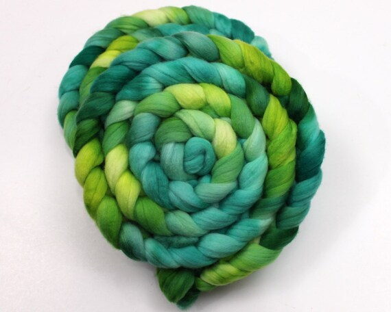 Cormo Wool Roving - Handpainted Roving for Spinning or Felting