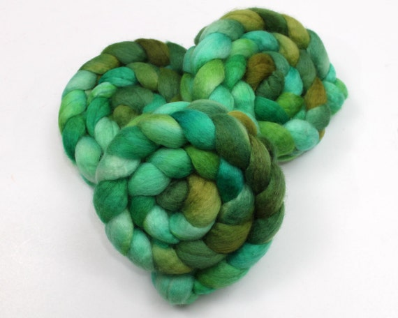 BFL Wool Roving - Hand Painted Felting or Spinning Fiber