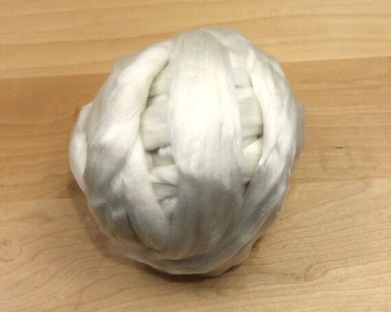 Merino/ Tencel Roving - Undyed Roving for Spinning or Felting (8 oz)