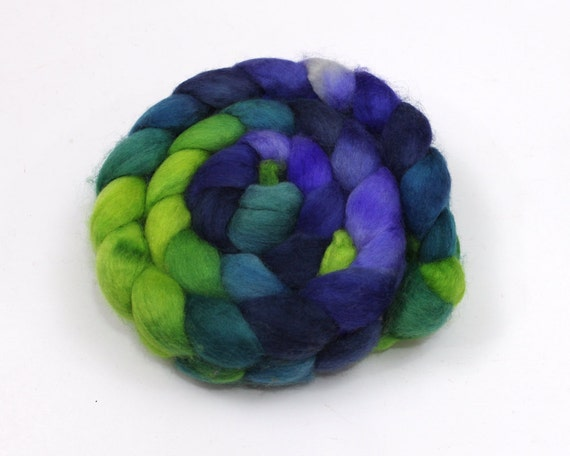 BFL Roving - Hand Painted Roving for Felting or Spinning