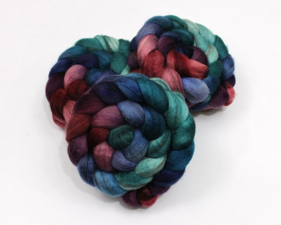 Mixed BFL Wool Roving - Hand Dyed Roving for Felting or Spinning