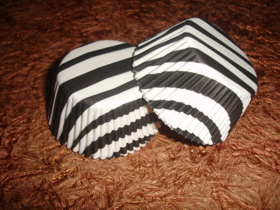 Black & White Zebra Cupcake Liners (50)