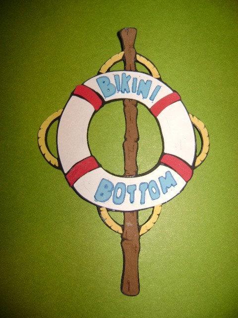 Bikini Bottom Sign Die Cut Spongebob