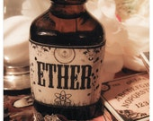 the victorian oil bath - you pick your poison - arrives to you in hugemongous 1 oz amber glass old world bottle