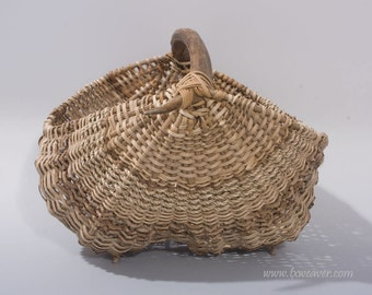Antler Basket with Palm Inflorescence - Item 537 by Susan Ashley