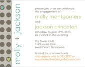DIY Printable Invitation - Save the Date, Engagement Party, Wedding invitation, Chevron Pattern Invitation, Couples Shower Invitation