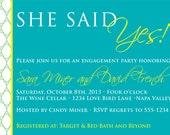 DIY Printable Invitation - Engagement Party, Wedding invitation, Couples Shower Invitation, Rehearsal Dinner Invitation
