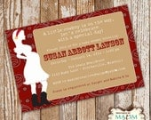 DIY Printable Invitation - Baby Shower Invitation, Party Invitation, Cowgirl Baby Shower, Cowboy Baby Shower....by Maxim Creative Invites