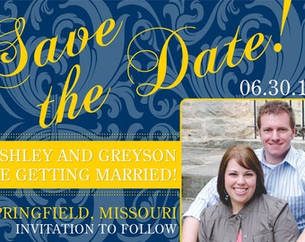 DIY Printable Save the Date Photo Invitation - Customizable for Printing or Emailing 4 X 6 or 5 X 7.....by Maxim Creative Invites