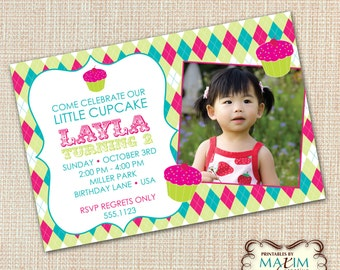 DIY Printable Invitation - Cupcake Invitation, Little Cupcake Birthday Invitation...by Maxim Creative Invites