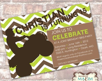 DIY Printable Invitation - Teen Birthday Party, Chevron Birthday Invitation. . .by Maxim Creative Invites