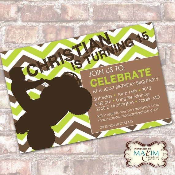 DIY Printable Invitation - Teen Birthday Party, Chevron Birthday Invitation. . .by Maxim Creative Invites