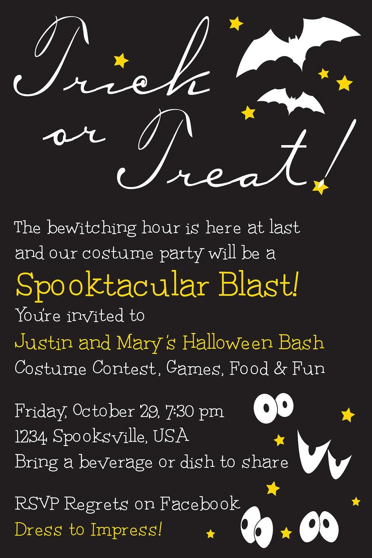 Halloween Invite Wording is beautiful invitation ideas