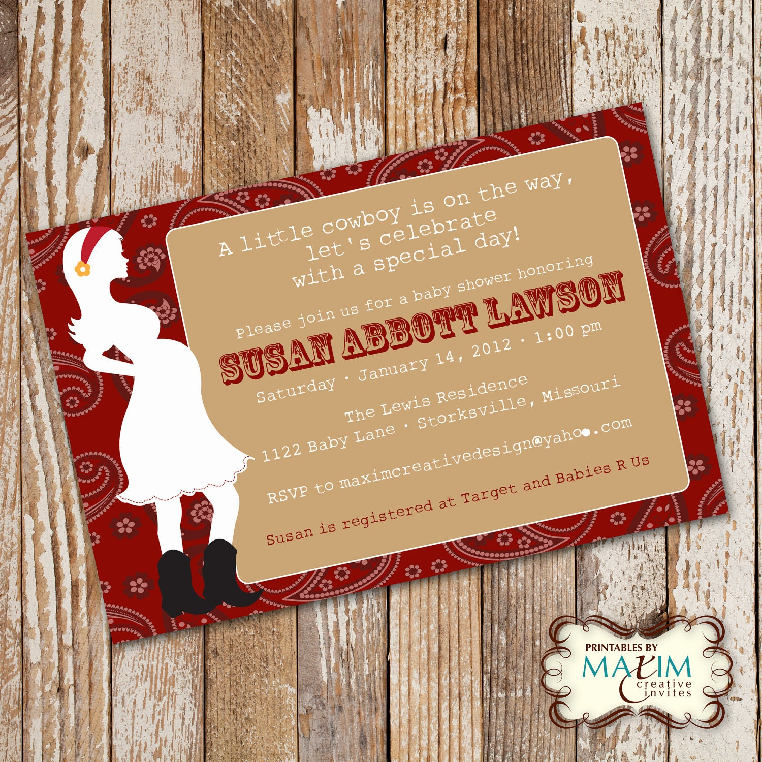 baby shower invitation party invitation cowgirl baby shower cowboy