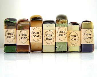 Handmade Cold Process Soap / 9 Bars YOU choose / Wholesale Soap