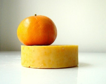ORANGE Tangerine Patchouli Soap /Cold Process - All Natural Soap / TANGOULI