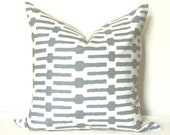 Pillow Cover - Decorative Pillow - Toss Pillow - Throw Pillow - Sofa Pillow - Annie Selke - Links - 20x20 in - Slate