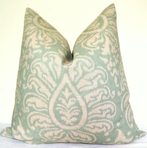 Pillow Cover - Decorative Pillow - Throw Pillow - Sofa Pillow - Toss Pillow - Ikat - 22x22 inch - Blue