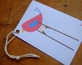 Little Bird Card and Gift Tag Set - Printable PDF