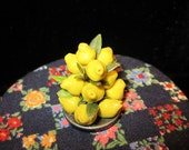 1/12 Scale (Dollhouse) Yellow Lemon Fruit Pyramid Holiday Centerpiece - Indoor Fairy Garden