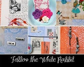 Follow the White Rabbit - mixed media / scrapbooking kit