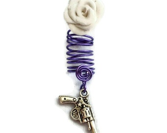 Dreadlock Loc Braid Jewelry Granite Rose Gun