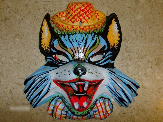 RESERVED FOR MENNA  Big Bad Wolf Halloween Mask looking for red riding hood