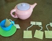 set of 4 wool felt tea bags
