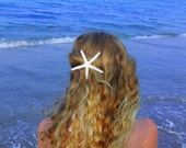 White skinny starfish barrette