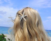 White skinny starfish alligator clip