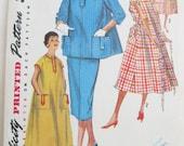 SALE Vintage 1950s Simplicity Maternity Dress and Suit Pattern Size S UNCUT