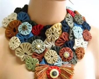 Bib  necklace-yoyo ref.rt60- one of  a kind