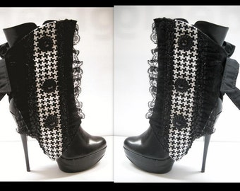 Spats- by J Souza  Limited Edition Black and White  - re.f bwr8 Made to order
