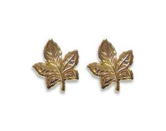 Vintage Maple Leaf Post Earrings