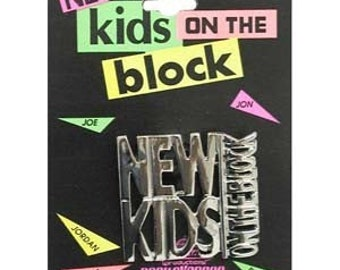 Vintage New Kids On The Block Pin On Original Card NKOTB