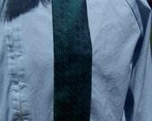 Mr. John Peacock Blue\/Green Silk Tie