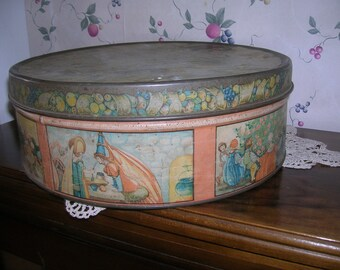Beautifully Shabby Chic Tindeco, Lords and Ladies Tin
