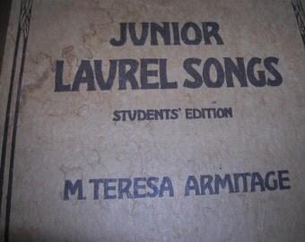 1915 Junior Laurel Songs Student Edition HC Sheet Music