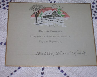 1920s, Christmas Card, Excellent Condition
