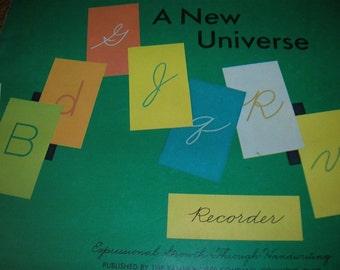 A New Universe Writing Recorder Workbook 1973