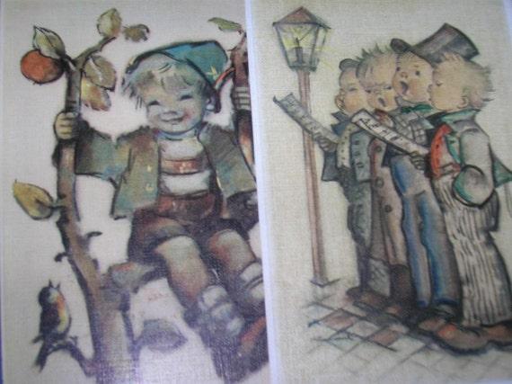 2 hummel postcards Unused
