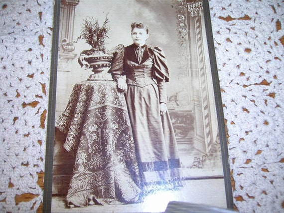 1800's Sepia Toned Antique Cabinet Card, Photograph