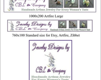 Custom Banner and Avatar sets Dual Sized Banners