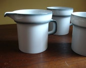 Mod cups and creamer. Thomas Germany. Mid Century.