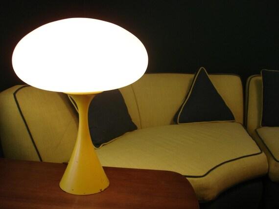 reserved for Truhart2012 Incredible Mid century modern Laurel Mushroom lamp in yellow...