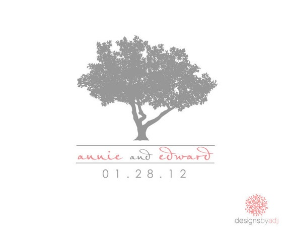 Tree Wedding Monogram Digital File